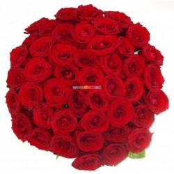 Buchet din 51 Trandafiri olanda (80-100cm)