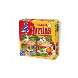 Set 4 puzzle-uri - Animale 64585 AD 01