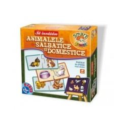 Sa invatam Animalele Salbatice si Domestice - Cutie mare 65384 AN 01