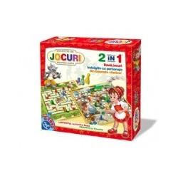 Jocuri 2 in 1 - Labirintul cu Scufita Rosie, Peripetii cu Pinocchio 60785 LP 01