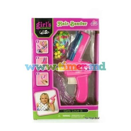 Set ornamente pentru par si aplicator Hair Beader MBK-201