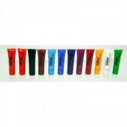 Vopsele acrilice pentru unghii Lidan 12 x 12ml