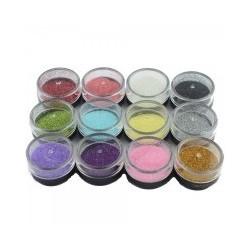 Sclipici, diverse culori set 12 bucati
