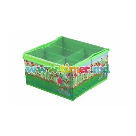 Cutie depozitare 4 compartimente, capac transparent