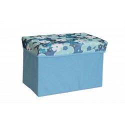 Taburet textil cu cutie de depozitare
