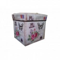 Taburet textil cutie depozitare 001