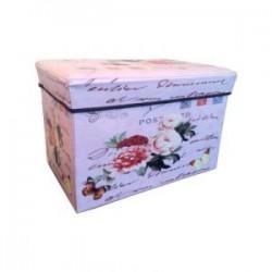 Taburet cutie depozitare model inflorat