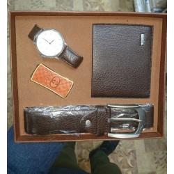 Set pentru barbati (centura, ceas, portmoneu si bricheta)