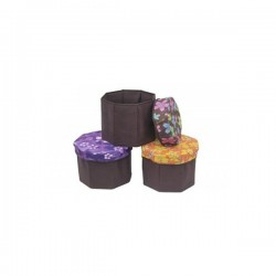 Taburet -Scaun cutie de depozitare - hexagonal