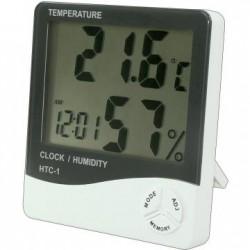 Termometru si Higrometru HTC-1 cu Ceas