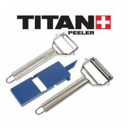 Set Curatatoare Legume Titan cu Accesoriu de Ornat